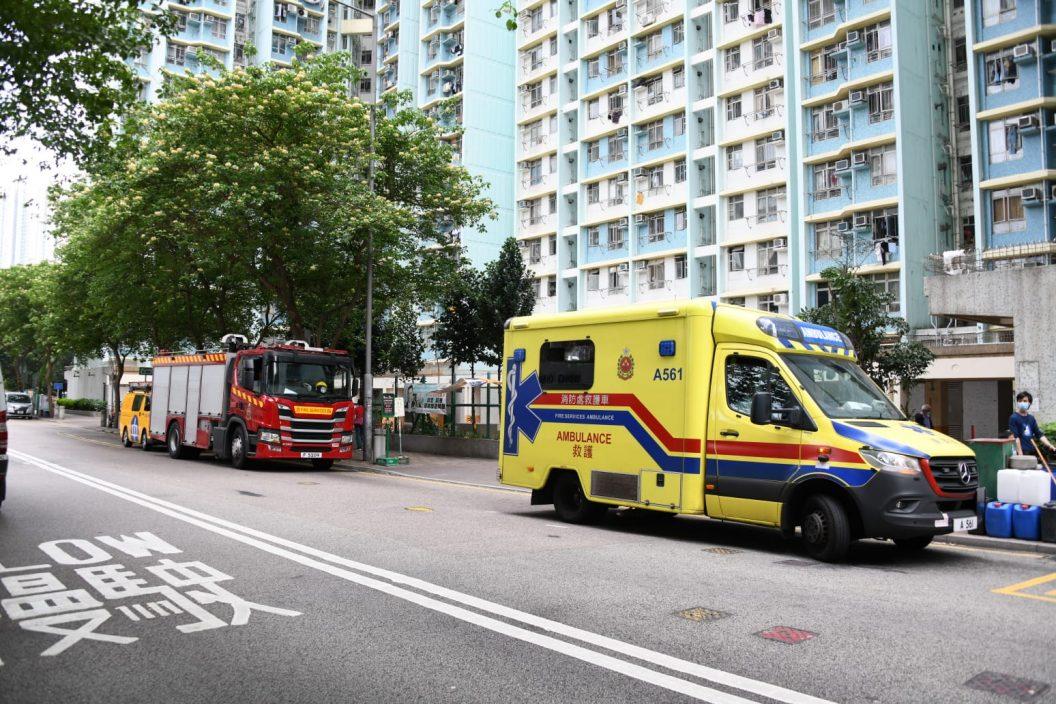 深水埗富昌邨单位起火 老翁烧伤送院