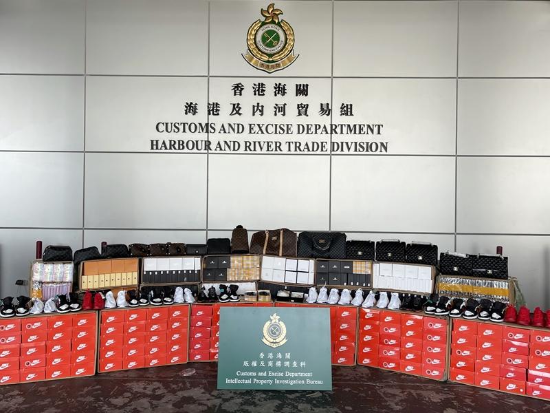 海关抽查从广东南沙抵港货柜 检2.2万件冒牌货
