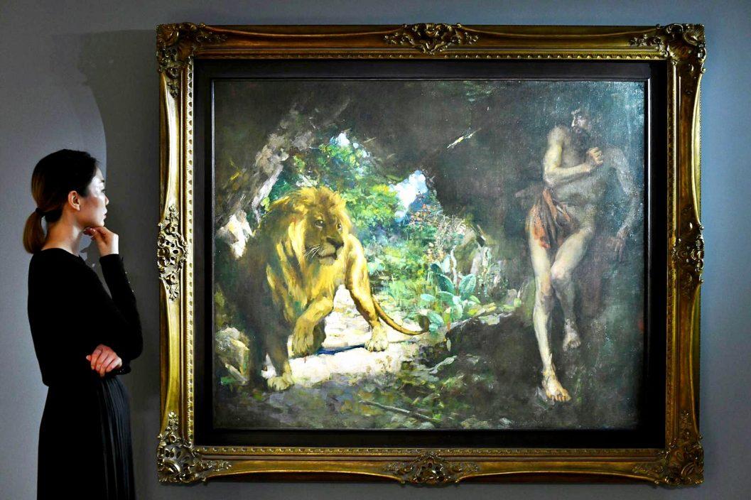 【Kelly Online】徐悲鸿巨作《奴隶与狮》 4.5亿估价成史上最价高亚洲艺术品