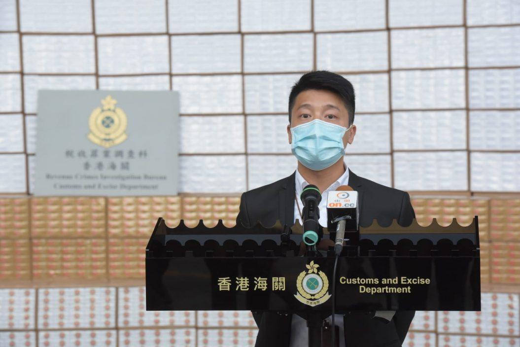 海关元朗检1600万支私烟 市值约4400万元