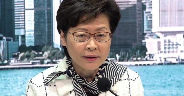 林鄭月娥說,作為行政長官處理每天的工作都會檢視自己有無利益衝突。(鍾家銘攝)