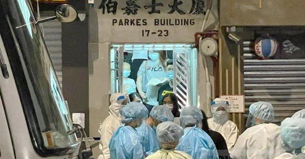 当局认为,必须对伯嘉士大厦采取审慎的感染控制措施。(赖绮玲摄)