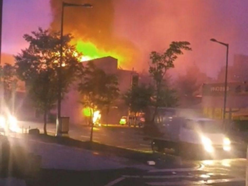 韩国大田市变电站爆炸 附近6.4万户停电2个半小时