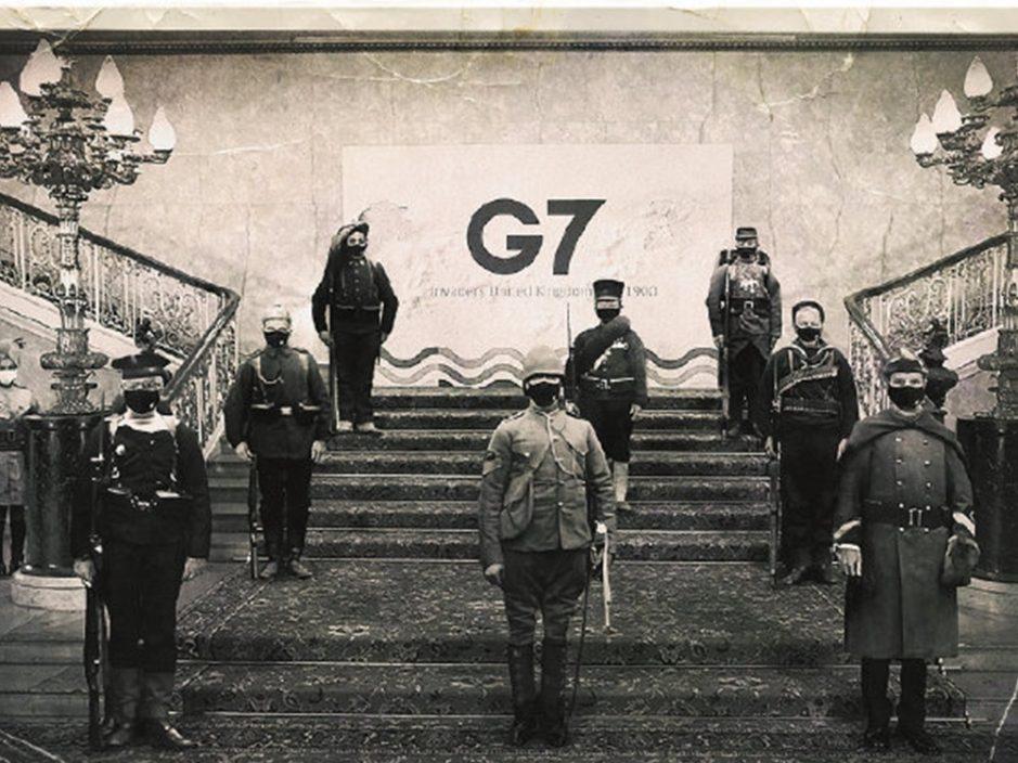 """乌合麒麟发布新作讽制G7""""120年了,还在做梦"""""""