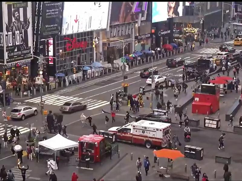 纽约时报广场发生枪击案 3人受伤