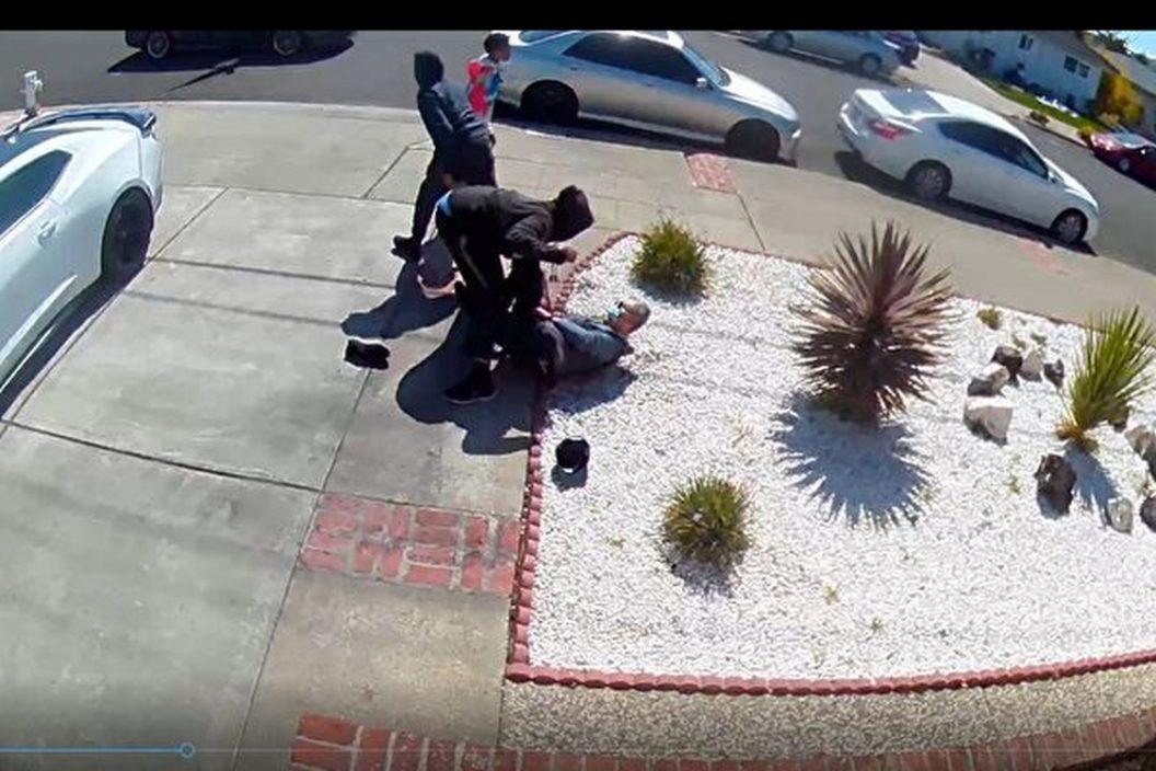 加州八旬亚裔老翁遭两青少袭击 遭掌掴及抢劫财物