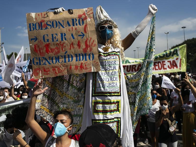 巴西爆发大规模示威 批评总统抗疫不力要求下台