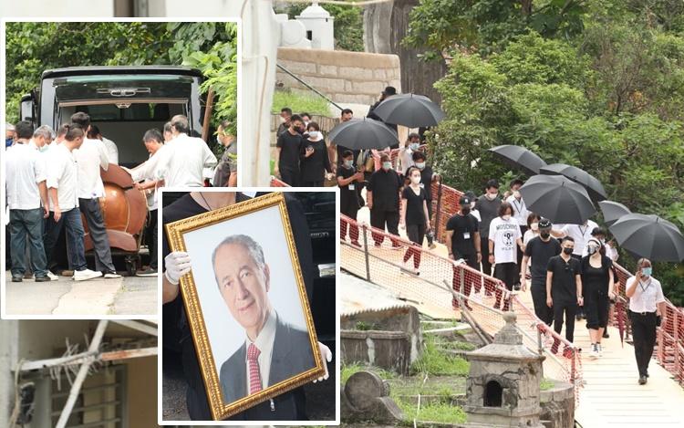 赌王何鸿燊微雨下安葬昭远坟场 子女全员送别最后一程