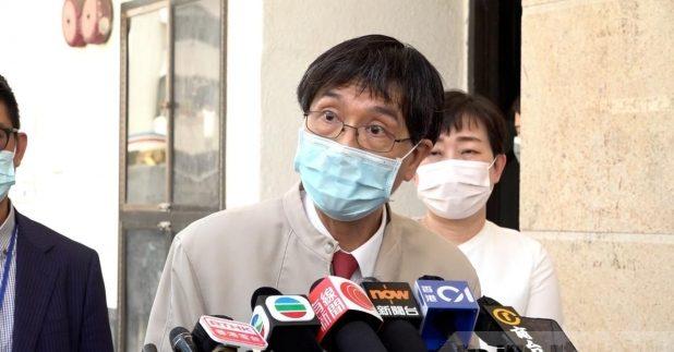 袁國勇表示,懷疑華大實驗室進行新冠病毒基因排序期期間,在鄰近休息室留宿的員工,受病毒DNA污染。(李錦華攝)