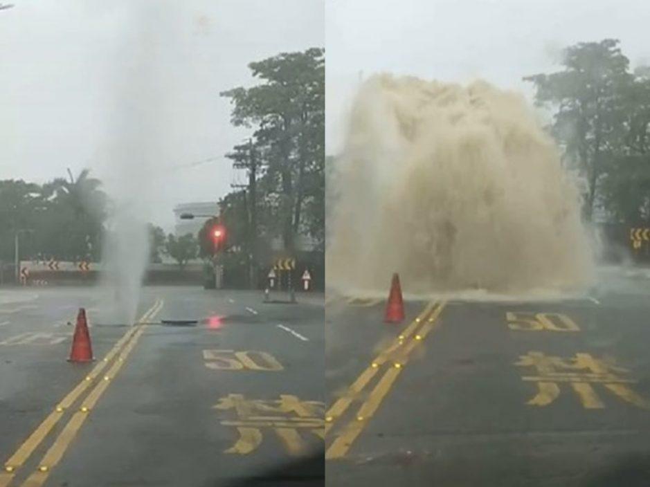 高雄昨晚起下豪雨 有低洼地区出现水浸