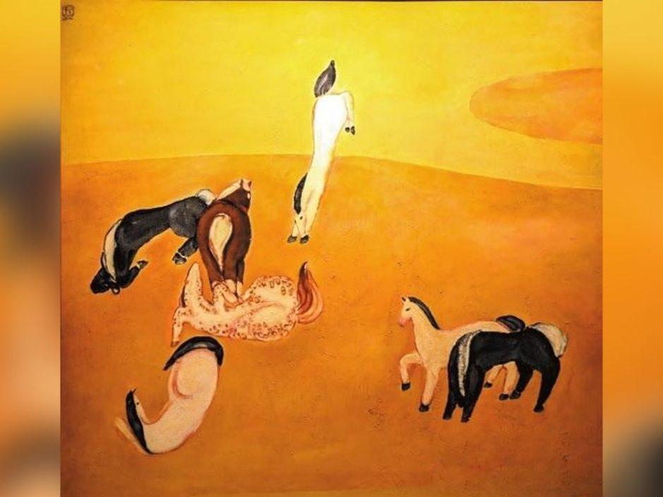常玉油画《群马》逾2亿人民币成交