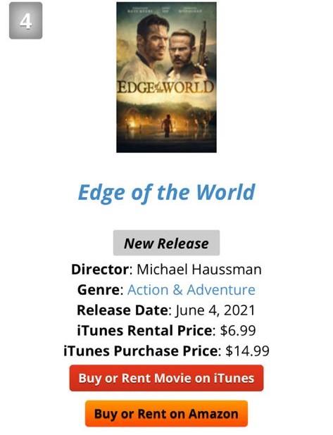 夫妻档监制新片《Edge of the world》 登iTunes榜首  何超仪获赞演技有压场感