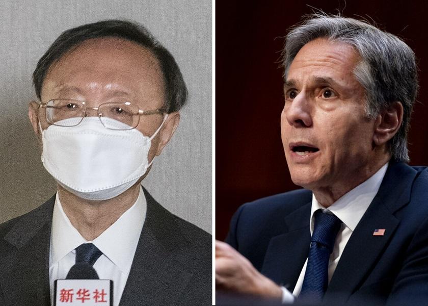 杨洁篪与布林肯通电话 促美方慎重处理台湾问题