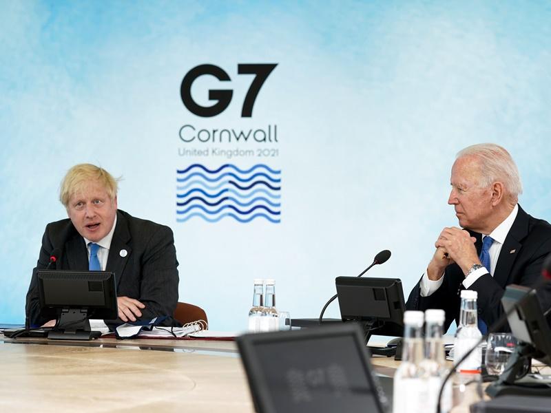 【G7峰会】 约翰逊吁各国汲取教训和错误 疫后建立更美好的未来