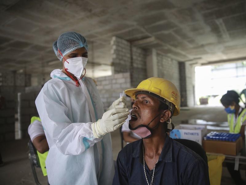 印度增8.4万宗确诊 2个多月来