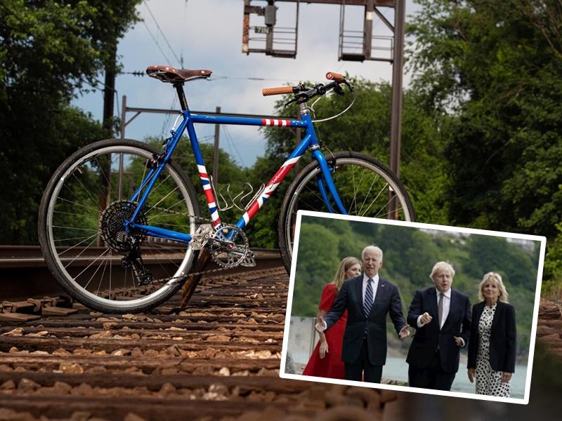 【G7峰会】礼物外交 拜登送约翰逊美制手工自行车