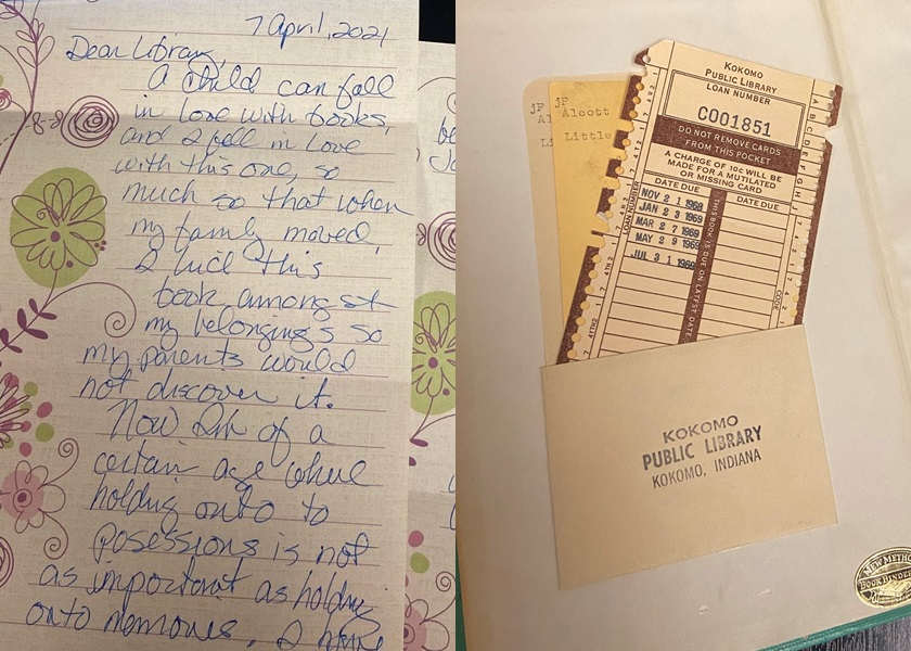 美妇逾期还书52年 亲撰道歉信并捐款补偿