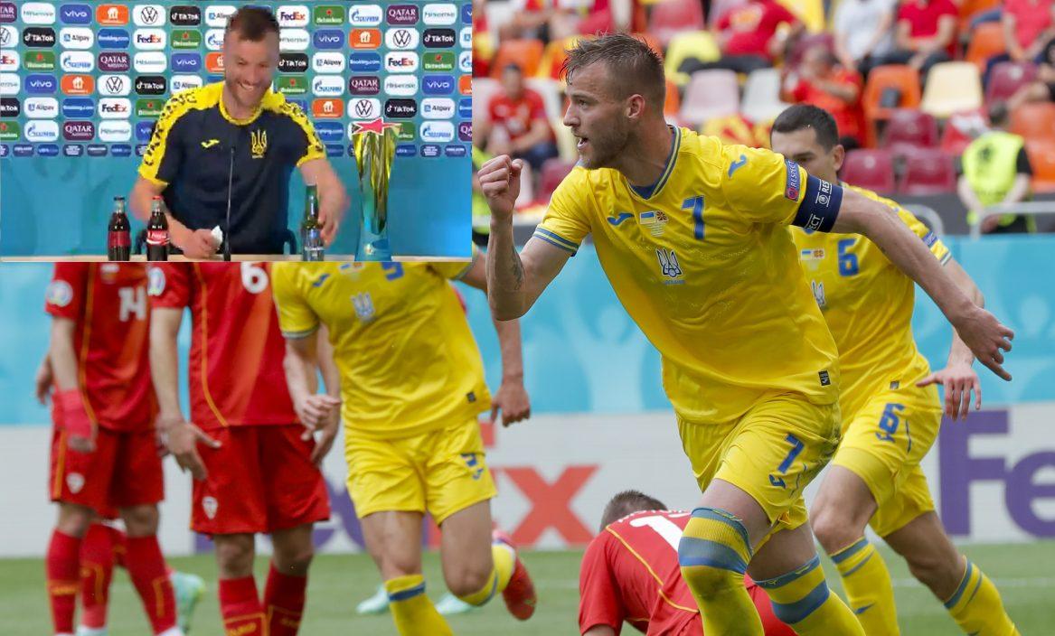 【欧国杯】乌克兰赢波耶莫兰高兴奋 模仿C朗乱移饮品