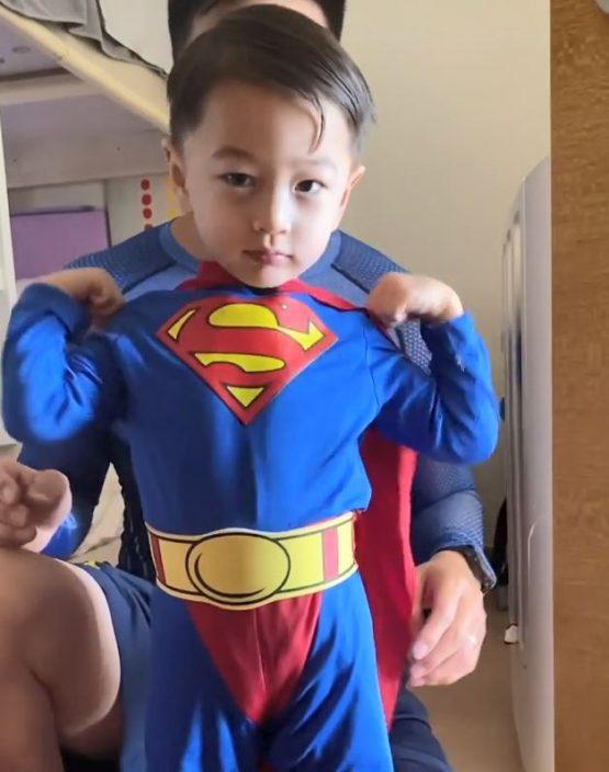 父亲节兼囝囝3岁生日 Jessica C.赞安志杰是超级爸爸