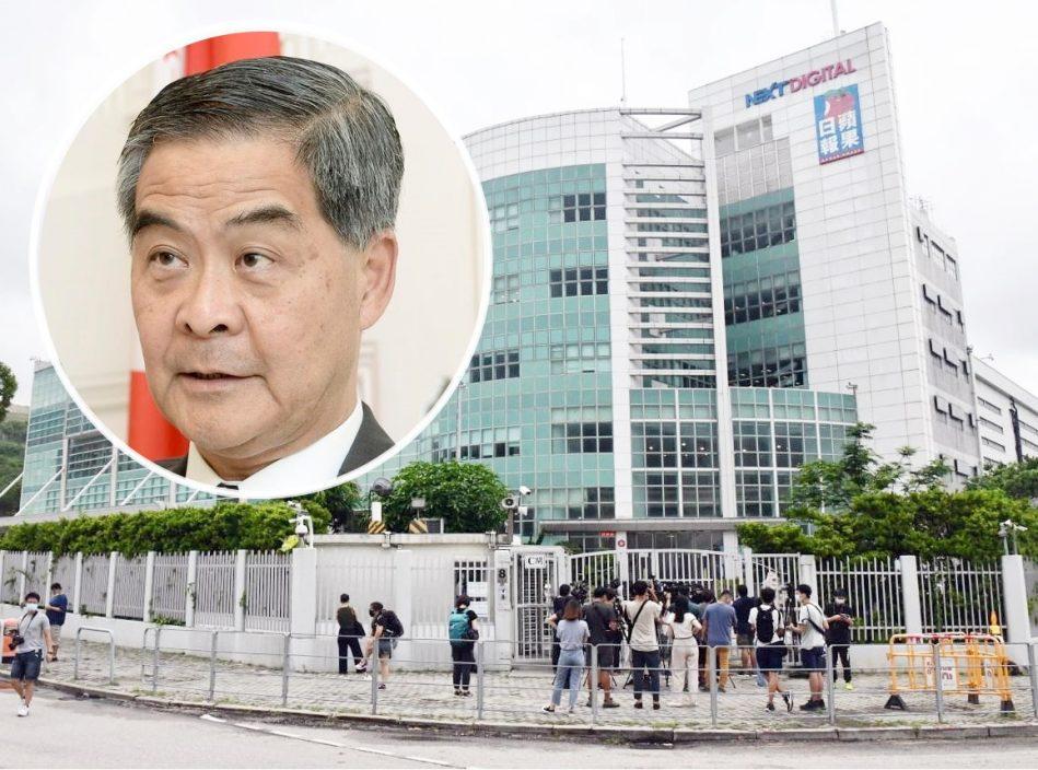 梁振英致函壹传媒董事 表明保留追究责任