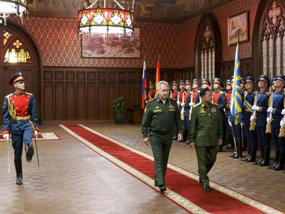 俄罗斯表示会加强与缅甸军事联系