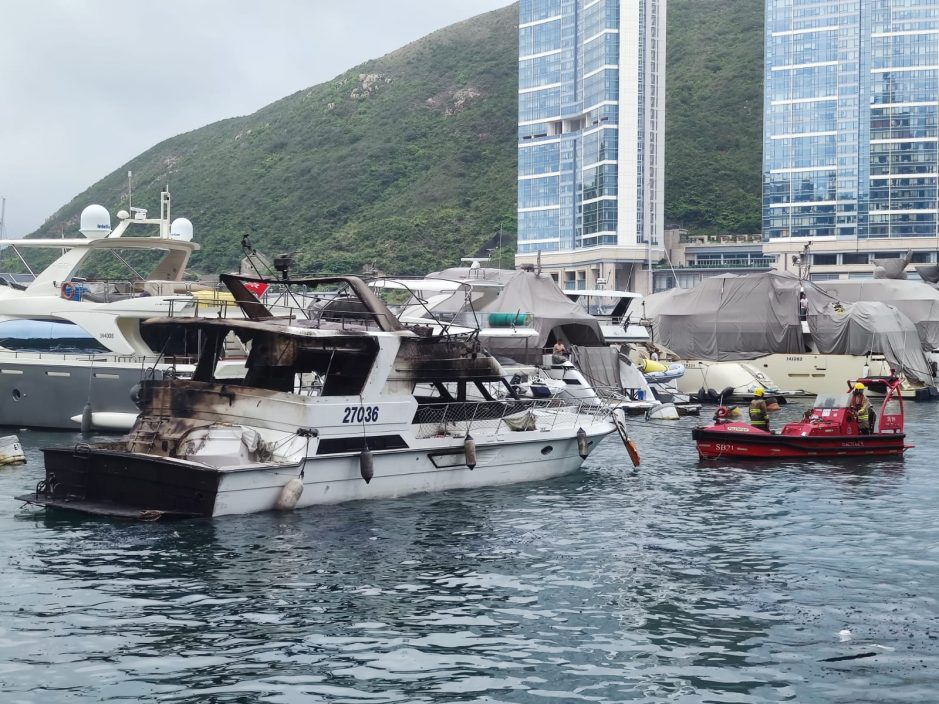 【三级火】牵涉30多艘船多为游艇 部分沉没