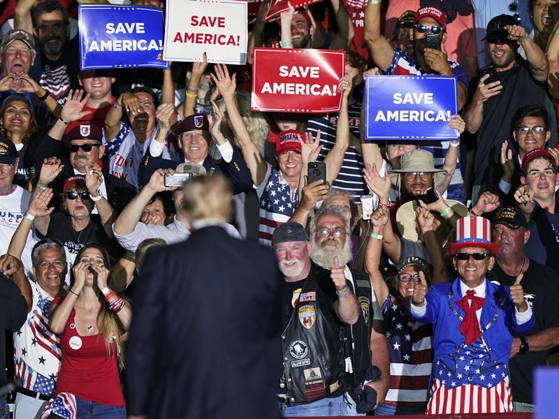 特朗普在俄亥俄州出席政治集会 炮轰拜登政府移民政策