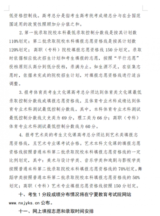 宁夏高考分数线公布:文科一本线505 理科一本线412