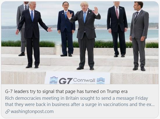 G7峰会第一天,就有人提到了中国