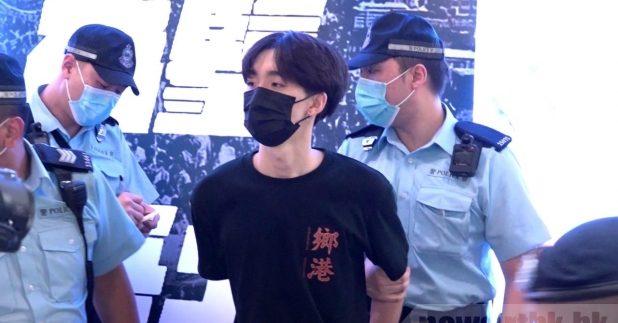 上周五在旺角擺街站的王逸戰,被警方指涉嫌公眾地方行為不檢被捕,翌日獲釋。(港台圖片)