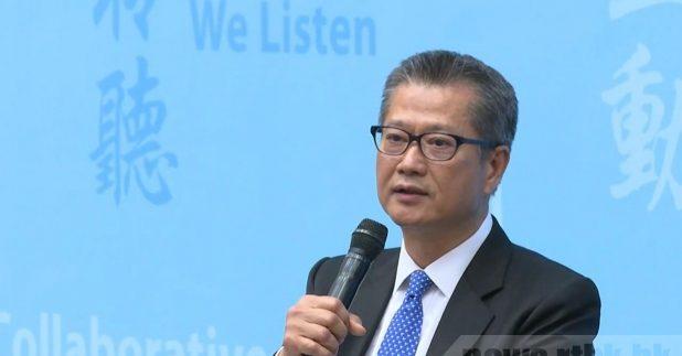 陈茂波今日下午3时举行记者会,公布消费券计划的详情。(港台图片)