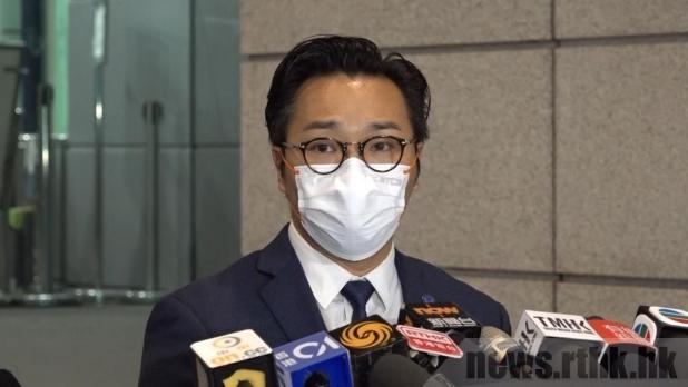 譚威信說,被捕人士公布及宣傳未經批准集結的行為非常不負責任。(孔令輝攝)