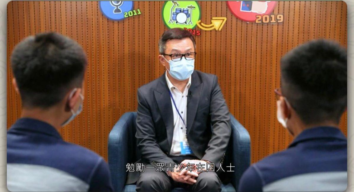 邓以海访惩教署壁屋惩教所 吁青少年囚犯远离毒品