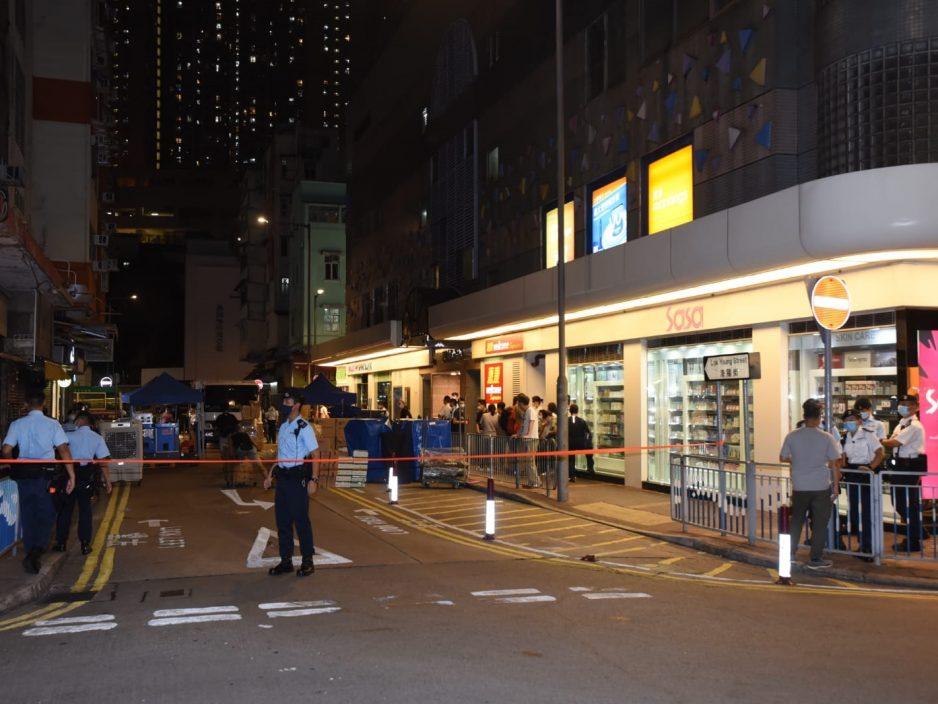 政府宣布香港仔利港中心封区 居民须接受强制检测