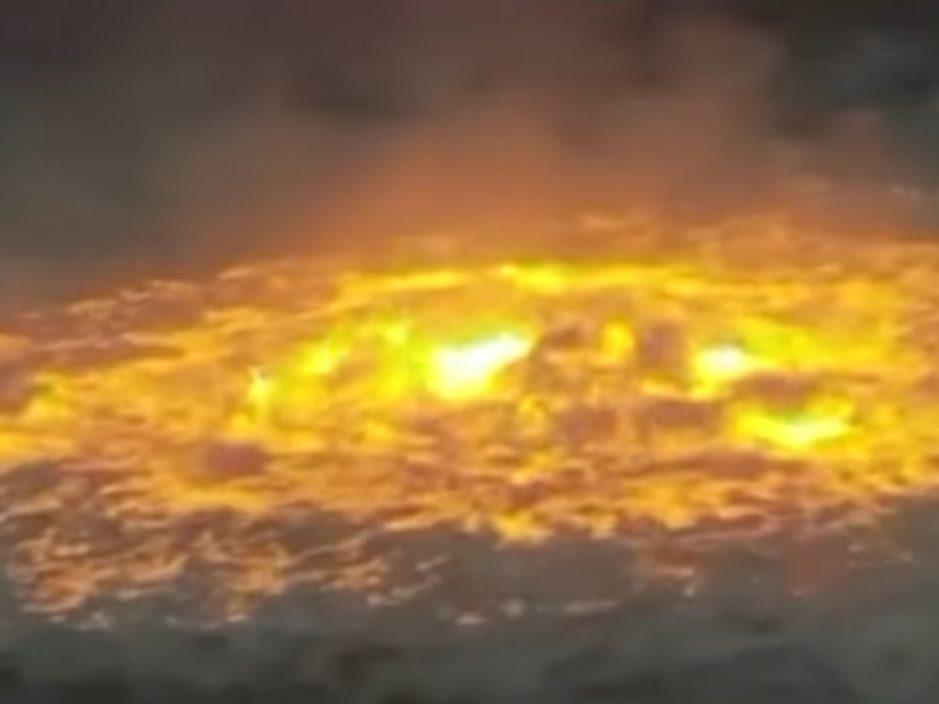 墨西哥湾海底天然气管泄漏爆炸 海面烈焰狂烧