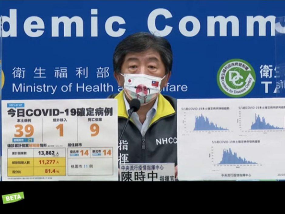 台湾新增39宗本土确诊再多9人死亡 桃园地勤染疫将进行大规模检测