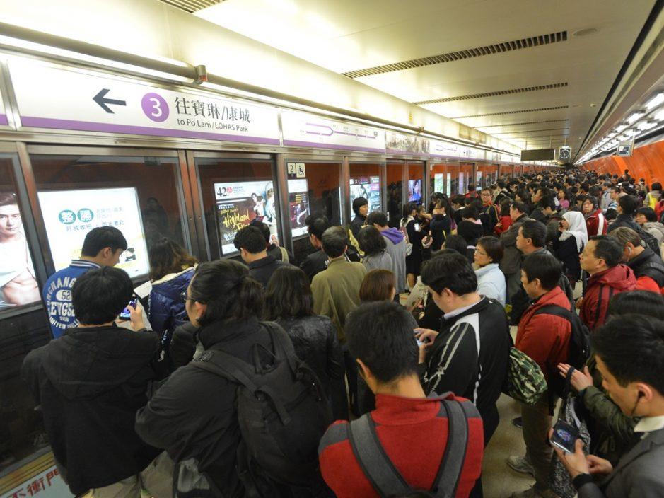 港铁列车故障 将军澳线列车服务一度延误