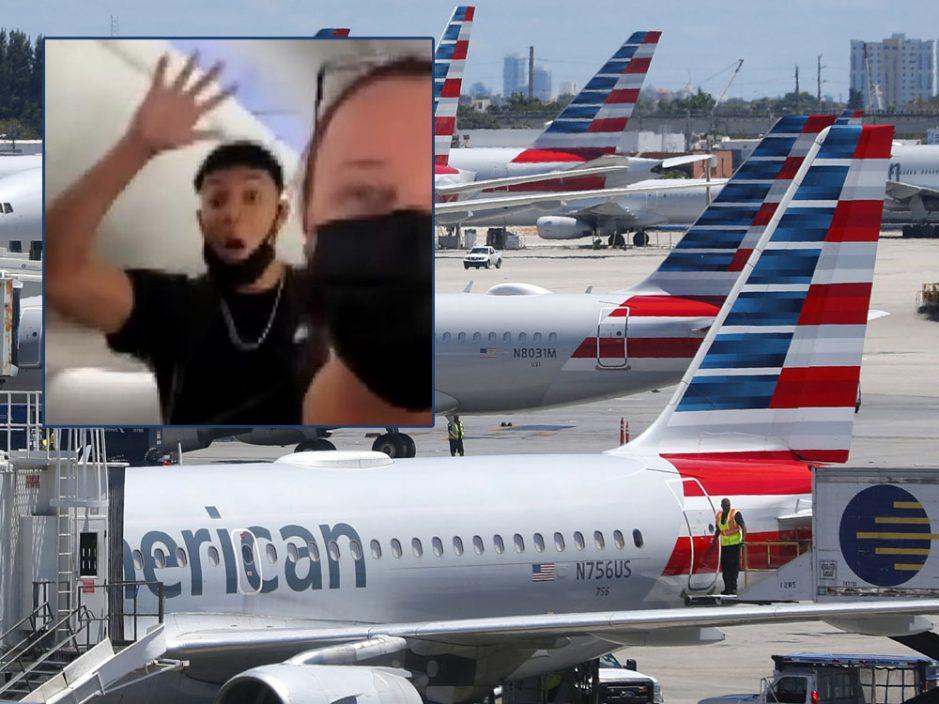 30名高中生拒戴口罩大闹美航 令航班延误一天